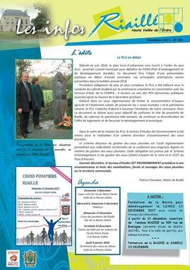 Une du bulletin municipal de Riaillé
